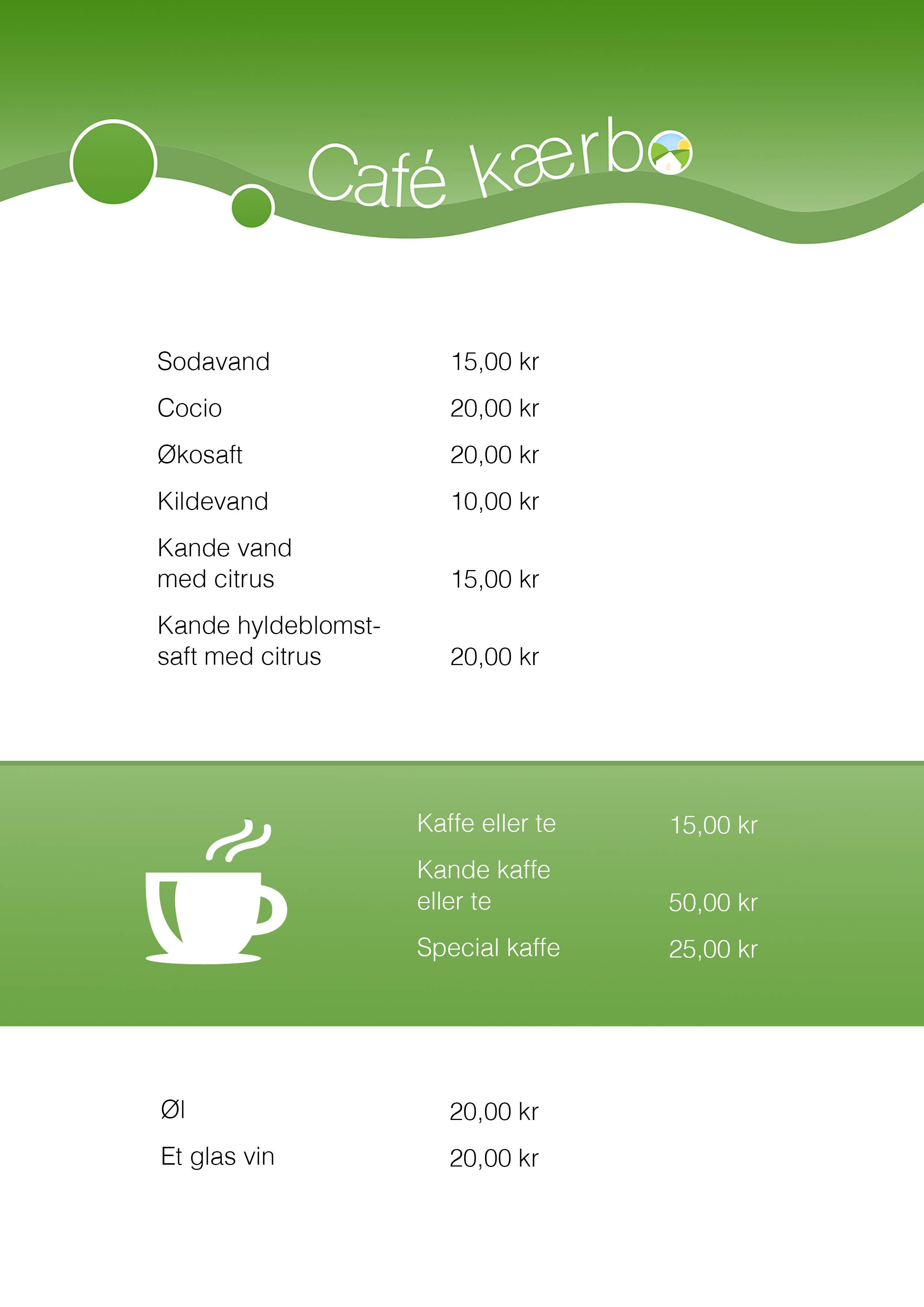Café kærbos menukort