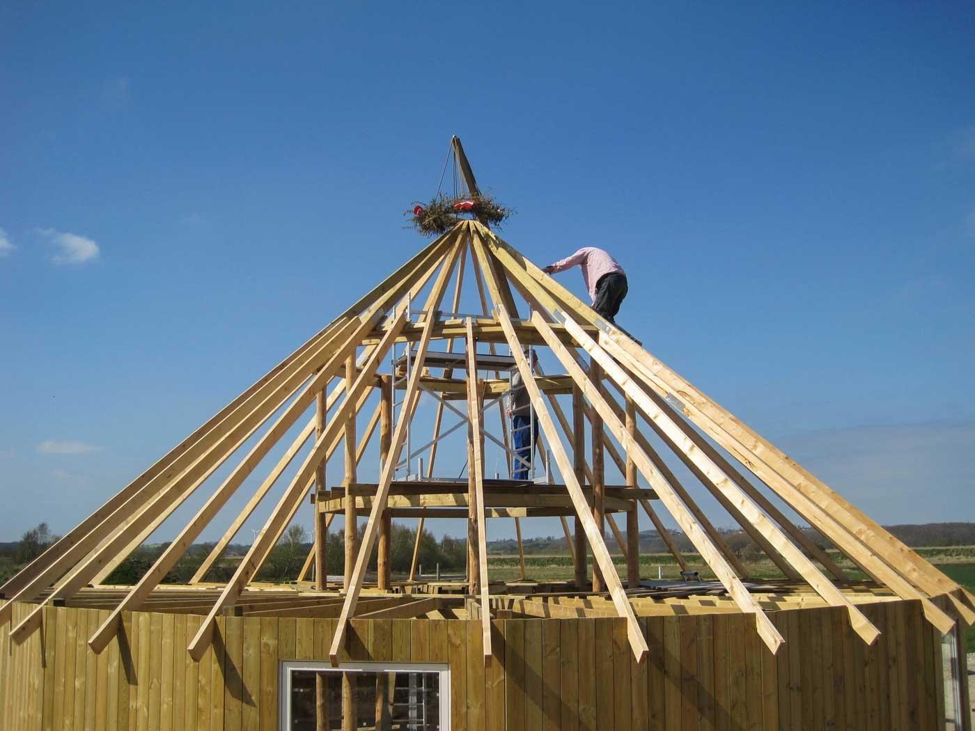 Opførelsen af yurten