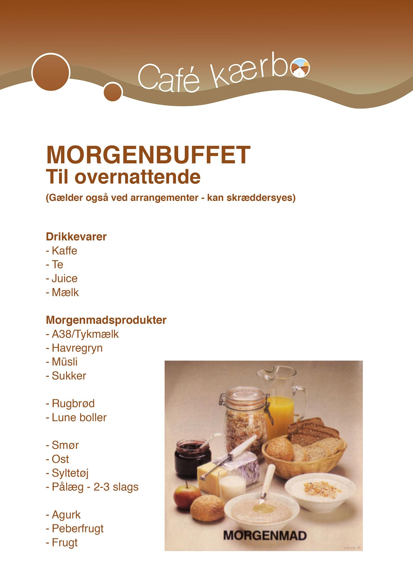 Billede af morgenbuffet-kort